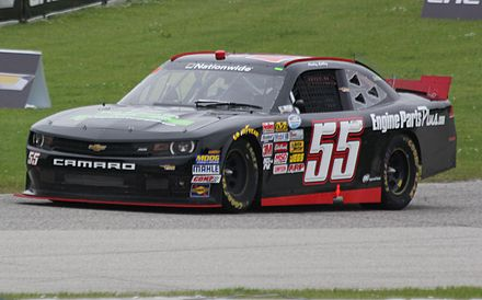 Lally in a Nationwide car at Road America in 2014 55 Andy Lally NASCAR Nationwide 2014 Gardner Denver 200 at Road America.jpg