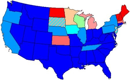 1936 United States House Of Representatives Elections Wikipedia - Us-house-of-representatives-map-by-state