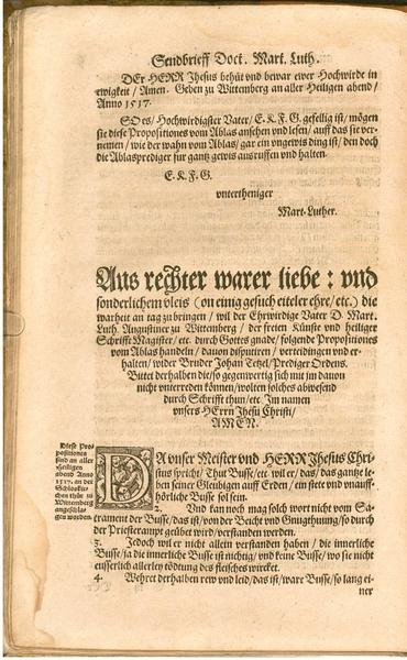 luther 95 theses summary Martin luther was the leader of the protestant reformation, a religious movement   martin luther published the 95 theses which criticized the catholic church.