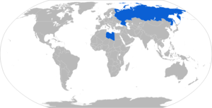 9M123 Khrizantema - Map with 9M123 operators in blue