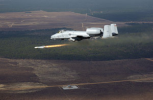 AGM-65 Maverick - An A-10 firing a Maverick missile