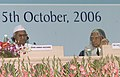 A.P.J. Abdul Kalam and eminent Social Activist Shri Anna Hazare at the inaugural the National Convention on 'One Year of RTI', organised by the Central Information Commission in New Delhi on October 13, 2006.jpg