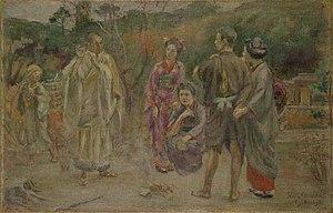 Kuroda Seiki - Kuroda Seiki, study for Talk on Ancient Romance (Composition II), 1897, Kuroda Memorial Hall, Tokyo