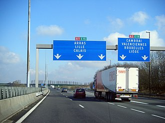 Control city - Following the A1 leads to Lille and Calais, and the A2 leads to Belgium- the E19 directly to Brussels and via other routes to Liège.