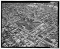 AERIAL VIEW, LOOKING NORTHWEST. - Eastern State Penitentiary, 2125 Fairmount Avenue, Philadelphia, Philadelphia County, PA HABS PA,51-PHILA,354-168.tif