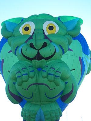 Albuquerque International Balloon Fiesta - Big Green Cat, 2007 Fiesta.