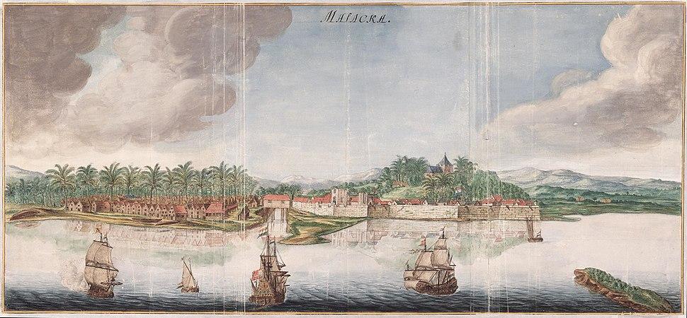 AMH-6156-NA Map of the city of Malakka