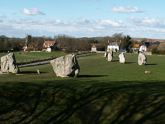 John Aubrey - Part of the southern inner ring at Avebury