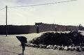 ASC Leiden - van Achterberg Collection - 01 - 40 - Un tas de bois de chauffage dans un espace ouvert près d'un long mur de boue avec des ouvertures de porte - Agadez, Niger, novembre 1990 - janvier 1991.tif