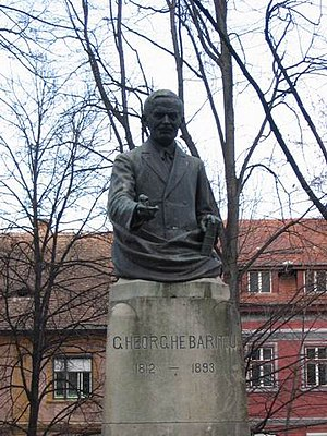George Bariț - Bariț's statue in front of the ASTRA Palace in Sibiu