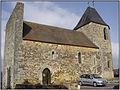 AUDRIX (Dordogne) - Vue latérale de l'église Saint-Pierre.JPG
