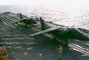 AV-8B Harriers on USS Inchon (LPH-12) 1989.JPEG