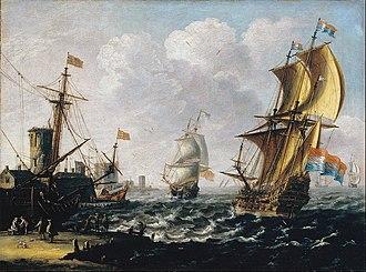 Laureys a Castro - Dutch Levanters in a Rough Sea