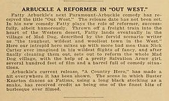 A Country Hero - Image: A Country Hero Mentioned in Out West notice Moving Picture World 1 5 1918