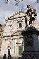 A Monument dedicated to Pietro Metastasio in front of Santa Maria in Vallicella Church, also called Chiesa Nuova, Piazza della Chiesa Nuova, Santa Maria in Vallicella, also called Chiesa Nuova.jpg