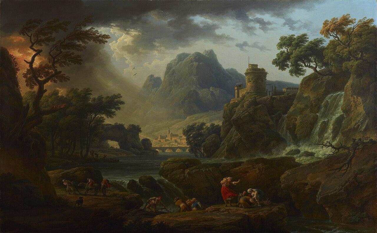 克劳德 - 约瑟夫·韦尔内法国画家Claude-Joseph Vernet (French,1714 – 1789) - 文铮 - 柳州文铮