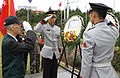 A South Korean representative of war veterans salutes during a wreath laying ceremony commemorating the 68th anniversary of United Nations Day at the United Nations Memorial Cemetery, Busan, South Korea 131024-A-SC579-003.jpg
