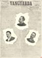 A Vanguarda - Gregório Fernandes, Dr. Magalhães Lima, Andrade Neves (Album Republicano, 1908).png