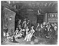 A communal house, the men sit drinking around a table whilst Wellcome L0013811.jpg