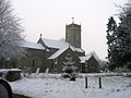 A snowy St. Peter's Church, Bramerton - geograph.org.uk - 116703.jpg