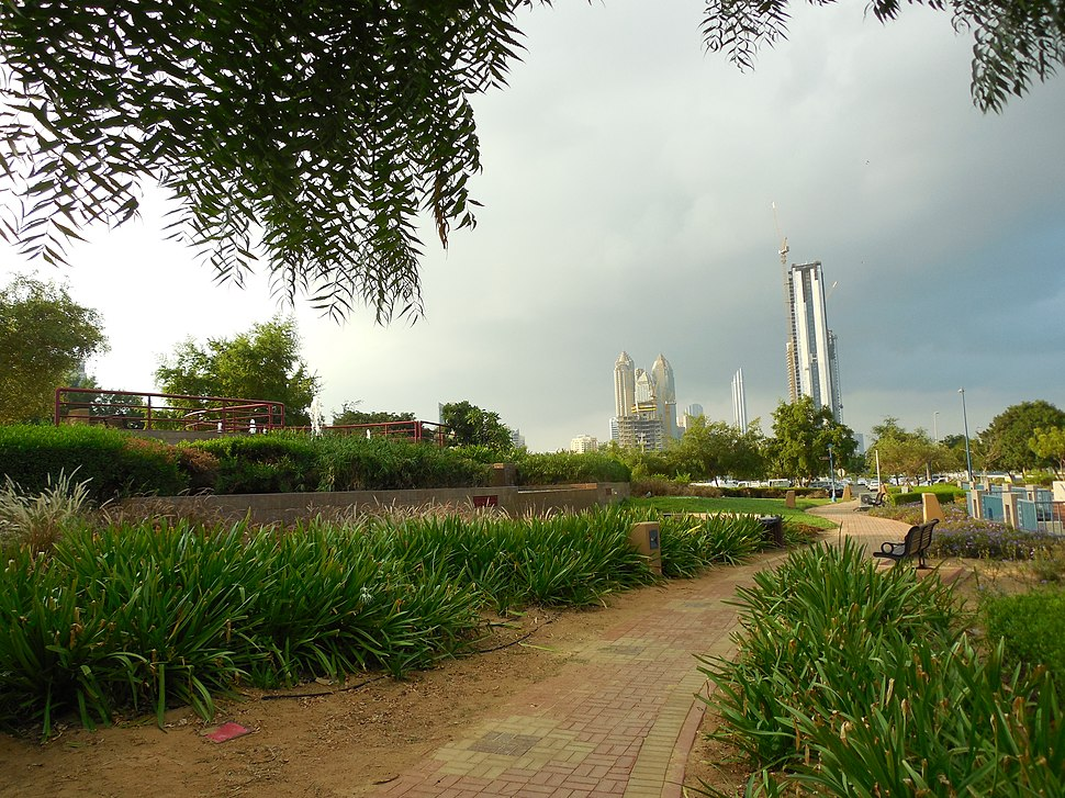 A view from Heritage Park in Abu Dhabi, UAE.