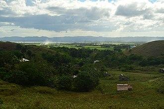 Bula, Camarines Sur - Image: A view of native houses in Bula pecuaria green hills WTR