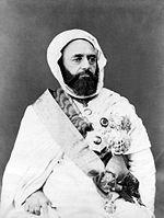 Emir Abd El-Kader, figure de la résistance berbère à l Armée d Afrique.