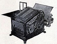 Adding machine, 1909