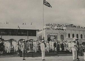 Bernard Rawdon Reilly - Reilly presiding at Aden's centennial ceremony in 1939