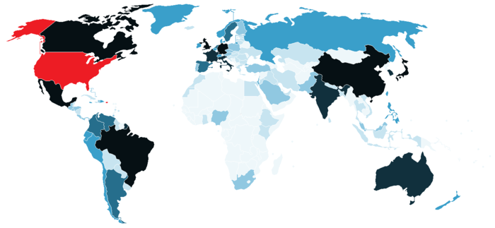 Visa Policy Of The United States Wikipedia - Us visa map