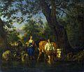 Adriaen van de Velde - Boeren met vee in een beek (c.1662).jpg