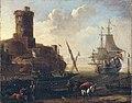 Adriaen van der Kabel - Een mediterraanse haven.jpg