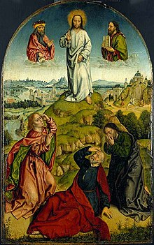 Aelbrecht Bouts's painting 'The Transfiguration', late 15th Century.jpg