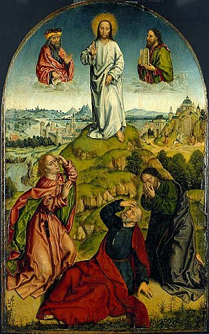 Aelbrecht Bouts - Image: Aelbrecht Bouts's painting 'The Transfiguration', late 15th Century