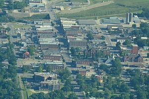 Ottawa, Kansas - Aerial view of Ottawa (2013)