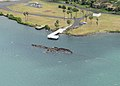 Aerial view of the USS Utah Memorial, Pearl Harbor, in March 2016.JPG