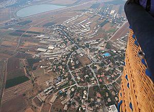 Kfar Yehezkel - Image: Aerial view on Kfar Yehezkel