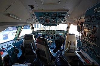Ilyushin Il-96 - Cockpit of an Aeroflot Il-96-300