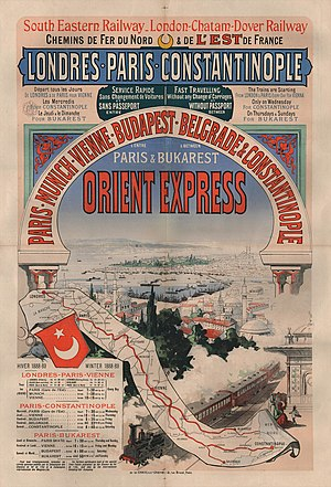 1889 in rail transport - 1889 advertising for Orient Express
