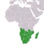 ที่ตั้งของภูมิภาคแอฟริกาใต้