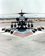 Ah-64 ground with weapons