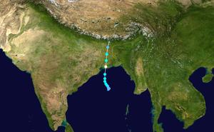 Cyclone Aila - Image: Aila 2009 track