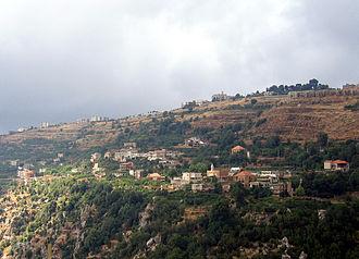 Aintourine - Aintourine seen from Kfarsghab - July 2006