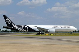 Een Boeing 777-300ER van Air New Zealand