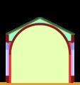 Aisleless church with barrel-vault.png