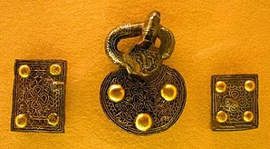 Alemanni - Alemannic belt mountings, from a 7th-century grave in the grave field at Weingarten.