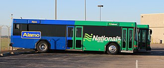 Alamo Rent a Car - Alamo airport shuttle shared with National Car Rental, Detroit Metro Airport