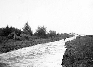 Alamo Canal - Original caption: View on Main Canal -- Note High Velocity