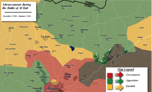 Battle of al-Bab - Map of the battle up to January 1