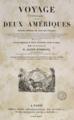 Alcide Orbigny - Voyage pittoresque dans les deux Amériques, page de titre, 1836.png